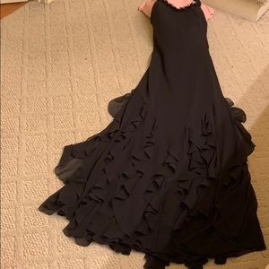 Cache Dresses - Black floor length gown